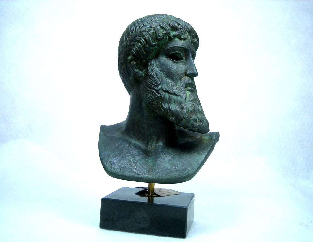 Statues busts ancient greek busts poseidon of artemision bust size 1 - Poseidon statue greece ...
