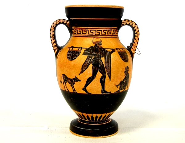 Ancient Greek Black Figured Pottery Style