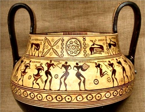 Ancient Greek Geometric Style Pottery
