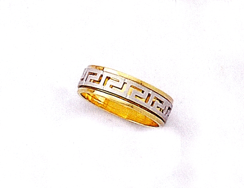 Gold Greek Key Wedding Ring