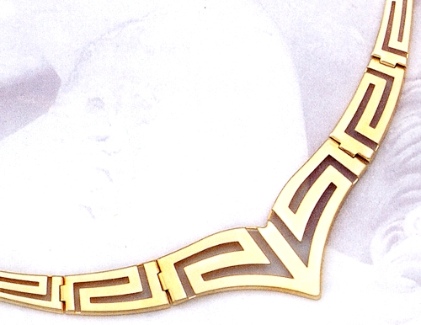 Greek jewelry 14k gold necklaces gold greek key meander necklace gold greek key meander necklace aloadofball Choice Image