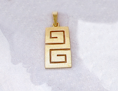 Greek jewelry 14k gold pendants ancient greek pendants gold greek jewelry 14k gold pendants ancient greek pendants gold greek key meander pendant aloadofball Images