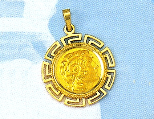 Greek jewelry 14k gold pendants ancient greek pendants gold gold alexander the great pendant aloadofball Choice Image