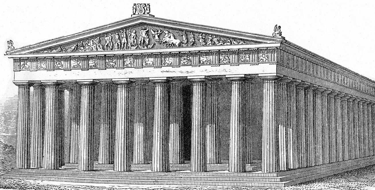 Greek Architecture Parthenon a drawing of what the parthenon might have looked like. which face