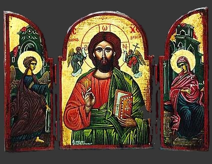 greek orthodox icons diptych triptych icons. Black Bedroom Furniture Sets. Home Design Ideas