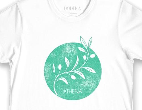 Greek Fashion Greek T Shirts Men Athenas Symbol T Shirt