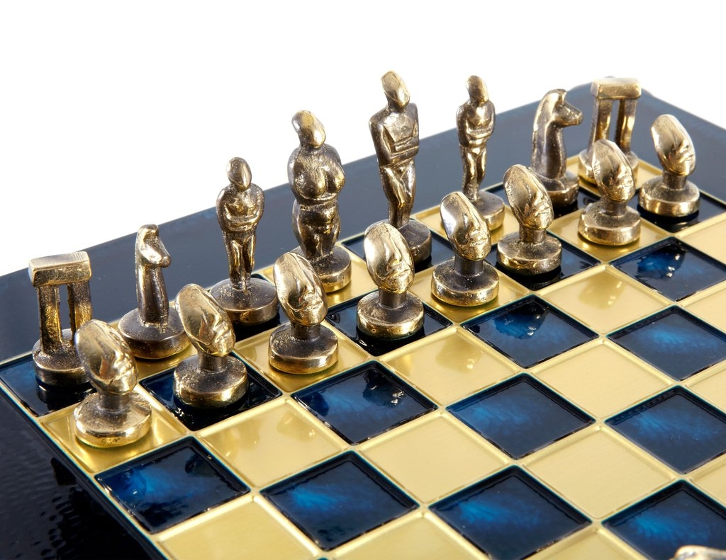 Greek Gifts Greek Chess Sets Cycladic Statues Chess Set