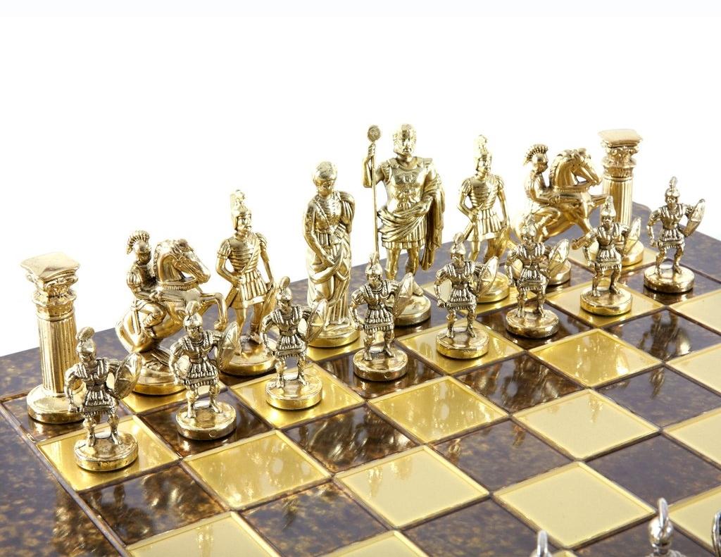 Greek Gifts Greek Chess Sets Roman Army Chess Set
