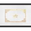 Gold foil on White