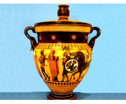 Black figured Chalkidian krater - Side A