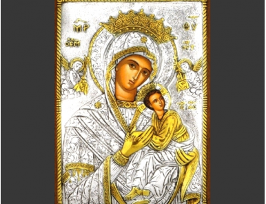 Gold plated icon