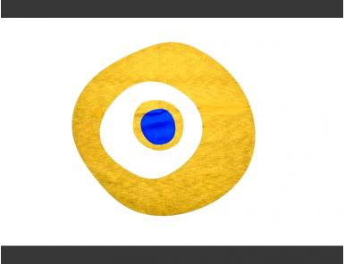 Golden/Blue on Beige