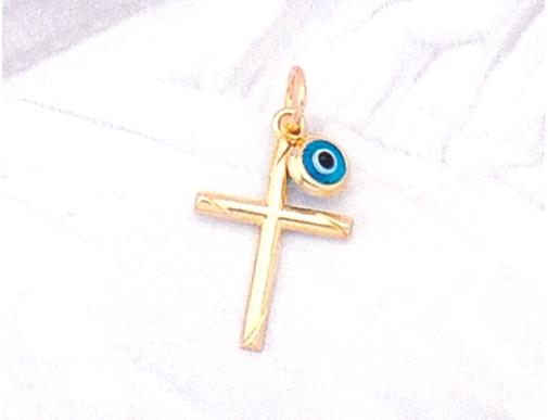 Greek Orthodox Cross with mati