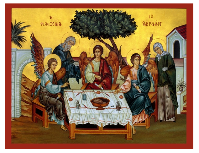 Image result for icon of the hospitality of abraham