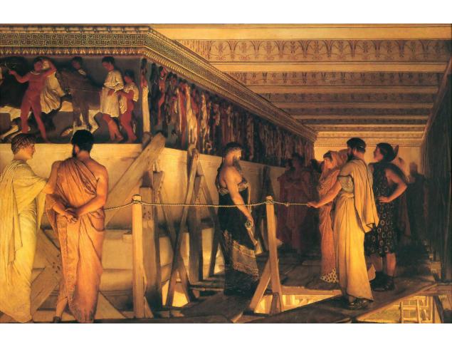 Pheidias and his crew working on the pediments