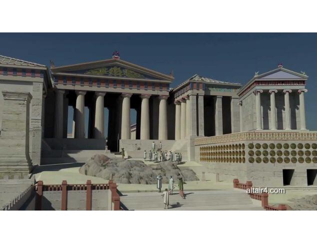 The Propylaia - the entrance gate of the Acropolis