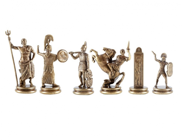 Antique blue chessmen