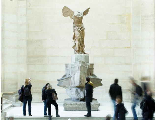 The original statue in the Louvre