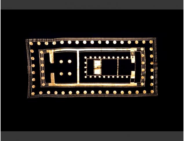 Gold foil on Black