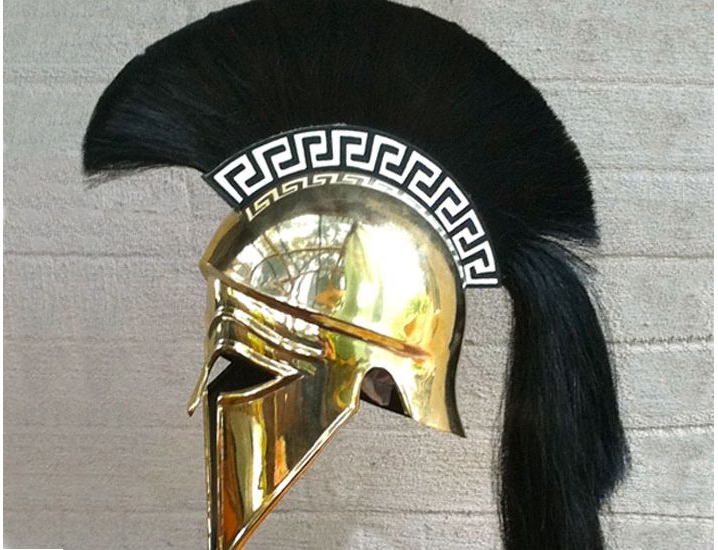 7a7c9618a Armour & Weapons :: Full Size Helmets :: Corinthian Full Size Helmet with  plume & Greek key