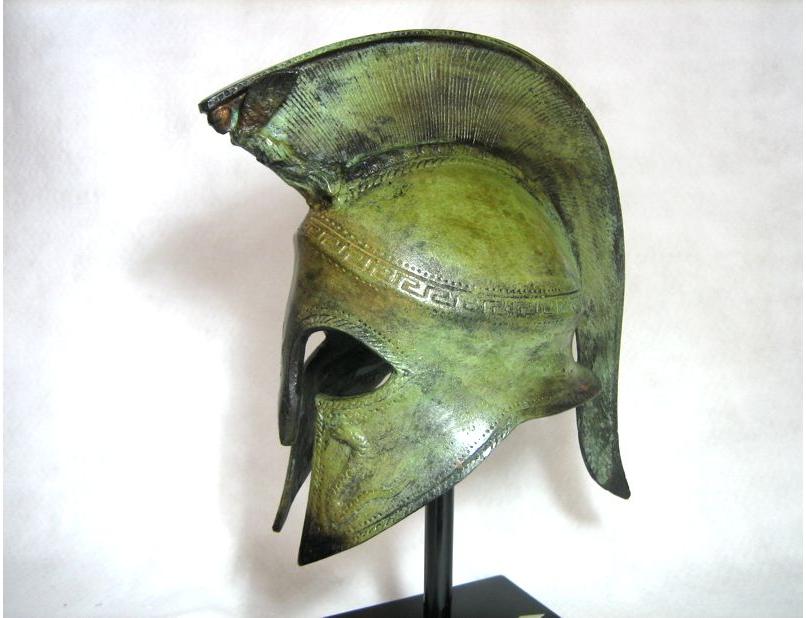 Spartan Helmet with Nike crest